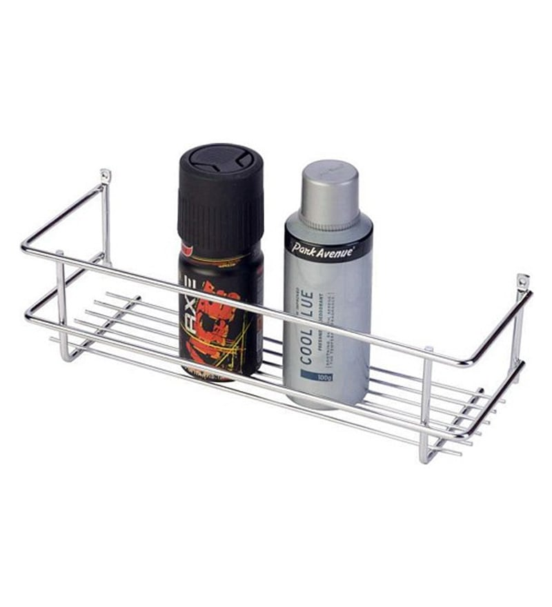 Doyours Silver Stainless Steel Bathroom Shelf