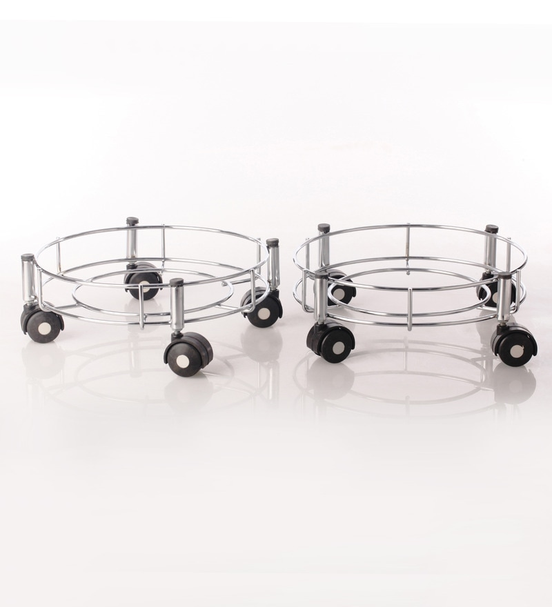Doyours Stainless Steel Gas Cylinder Trolley - Set of 2