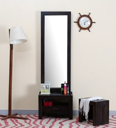 Acropolis Solid Wood Dressing Table With Mirror In Warm Chestnut Finish