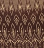 Brown Poly Cotton 48 x 84 Inch Door Curtains - Set of 2 by Dreamscape