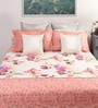 Pink Cotton Queen Size Bed Sheet with 2 Pillow Covers- Set of 3 by Dreamscape