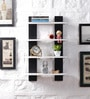 Driftingwood Black & White MDF Ladder Shape Wall Shelf