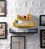 Black & Yellow MDF U Shape Floating Wall Shelves - Set of 3 by DriftingWood