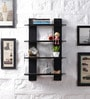 Driftingwood Black MDF Ladder Shape Wall Shelf