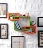 Driftingwood Orange & Green MDF Intersecting Storage Wall Shelf