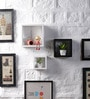White & Black MDF Nesting Square Shape Wall Shelves - Set of 3 by DriftingWood
