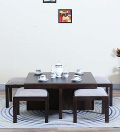 Duvall Coffee Table Set In Warm Chestnut Finish