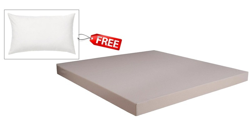 Dual Comfort Hard & Soft  King Size (78 x 72) 5 Inches Thick Foam Mattress (Pillow Free) by Springtek Ortho Coir