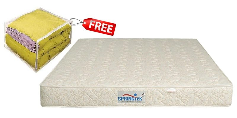 Dual Comfort King Size (78x72) 6 Inches Thick Rebonded Foam Mattress (FREE Comforter) by Springtek