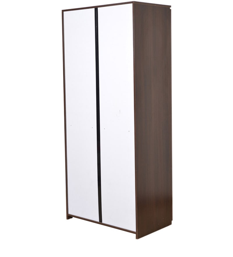Buy swirl dual finish double door wardrobe by hometown for Wardrobe finishes