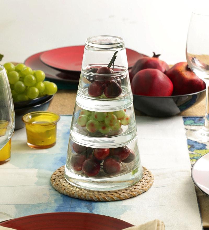 Durobor Pyramid Vertigo Pro Glass Dessert Bowls - Set of 4