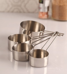 Dynamic Store Stainless Steel Measuring Cup - Set Of 4