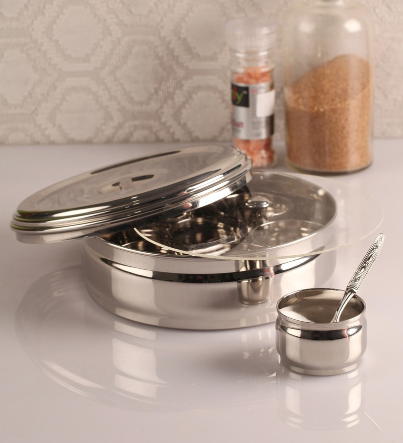 Dynore Silver 1500 Ml Spice Box - Set of 10