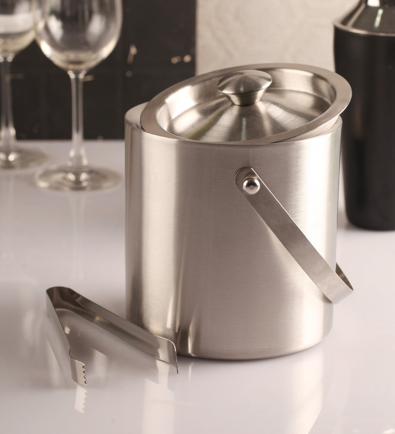 Dynamic Store Stainless Steel 1500 ML Ice Bucket - Set of 2