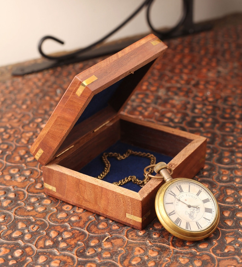 Multicolor Metal & Glass Pocket Watch by E-Studio