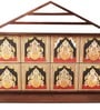Multicolor Teak Wood Asta Lakshmi Canvas Art by E-Studio