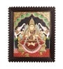 Multicolour Gold Plated Gajalakshmi Temple Framed Tanjore Painting by E-Studio