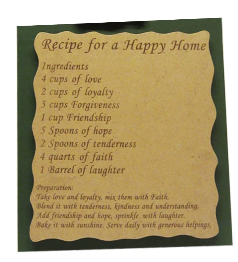 Buy Earth Recipe For Happy Home Mural Wall Art Online Wall