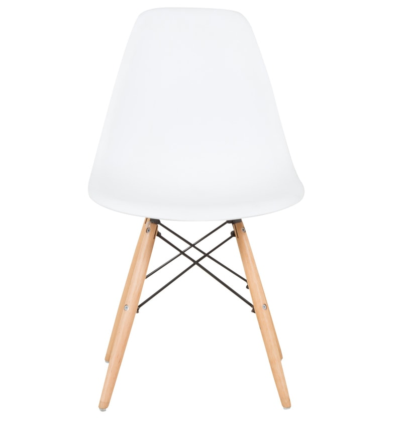 buy eames replica dining chair in white color by star india online