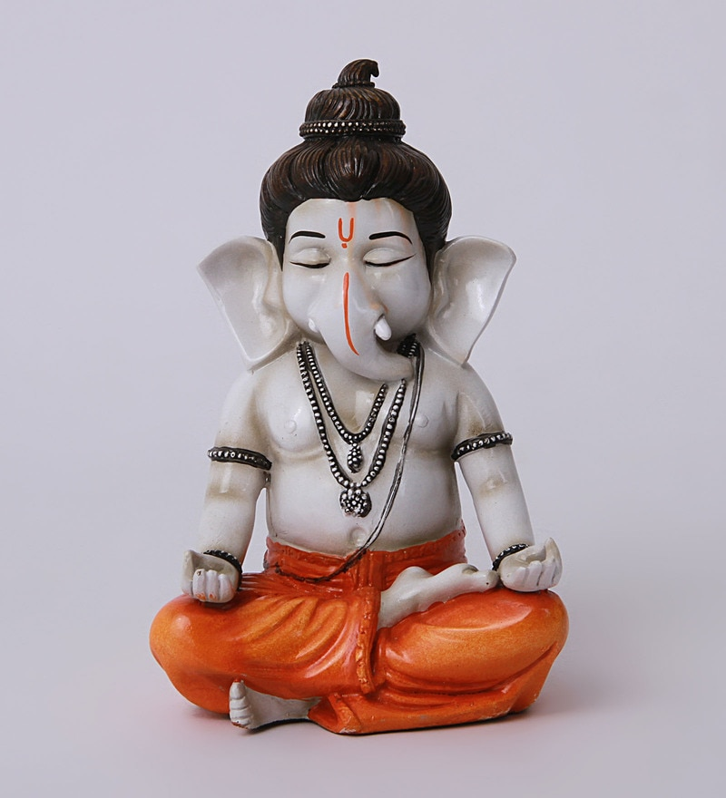 Buy Multicolour Polyresin Buddha Ganesha Idol By Earth