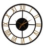 Grey Wood 12 x 0.5 x 12 Inch Uneven Lines Round Wall Clock by Earth