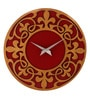 Earth Multicolour Wood 12 x 0.5 x 12 Inch Design Cutout Wall Clock