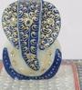 Blue Makrana Marble Lord Ganesha on Chowki by eCraftIndia