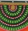 eCraftindia Green & Orange Papier Mache & Wood Decorative Utility Box Premium Pen Stand