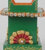 Green & Red Papier Mache Embossed Pen Stand by eCraftIndia