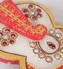 Multicolour Makrana Marble Ganesha Chopra by eCraftIndia
