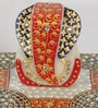Multicolour Marble Lord Ganesha on Abstract Chowki by eCraftIndia