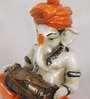 eCraftindia Orange & Brown Synthetic Fibre Lord Ganesha Playing Dholak