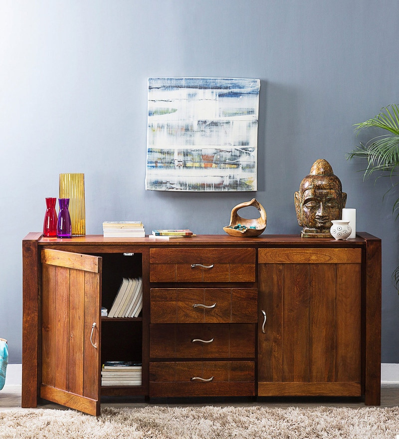 Elroy Sideboard in Honey Oak Finish by Woodsworth