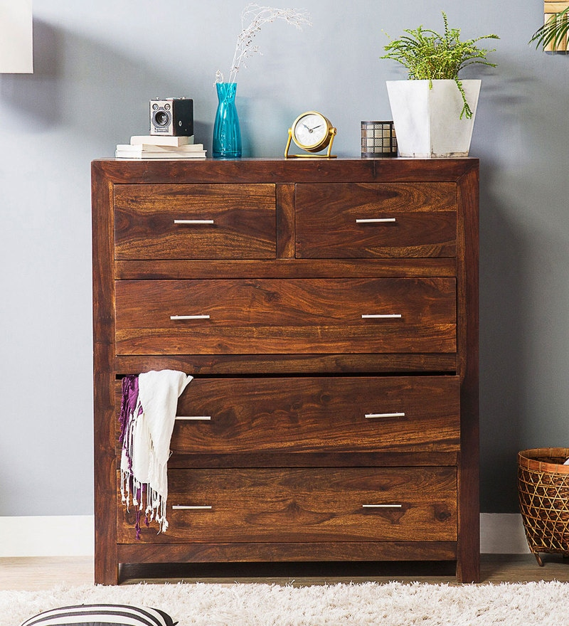 Edmonds Chest of Five Drawers in Provincial Teak Finish by Woodsworth