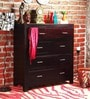 Edmonds Chest of Four Drawers in Passion Mahogany Finish by Woodsworth