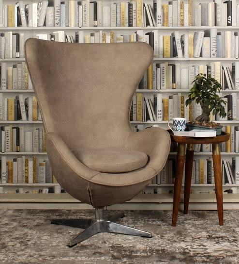 Egg Chair in Beige Color