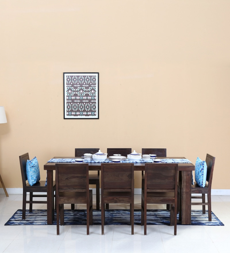Acropolis Eight Seater Dining Set in Warm Chestnut Finish by Woodsworth
