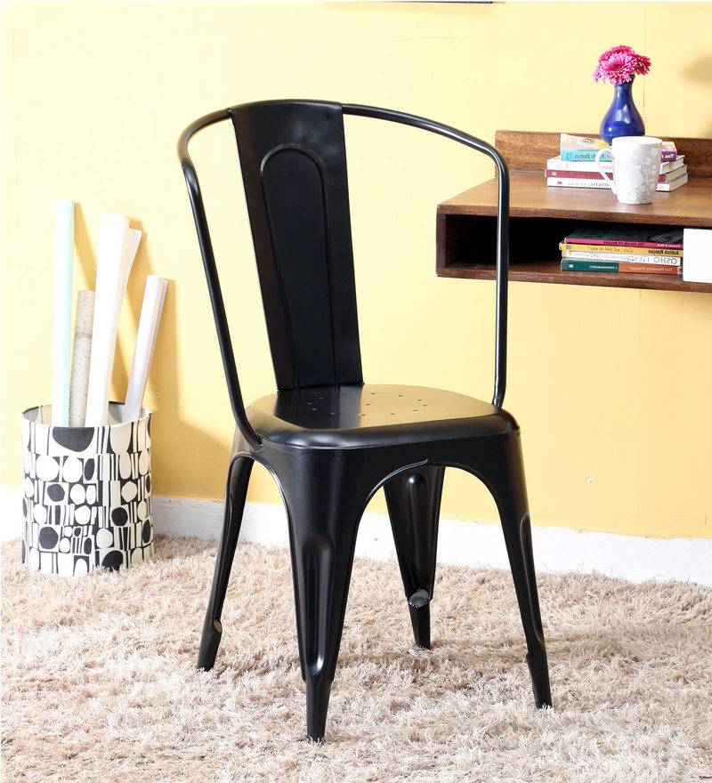 Ekati Metal Chair in Black Color by Bohemiana