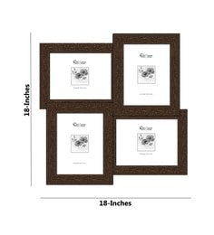 Elegant Arts And Frames Brown Synthetic Wood 18 X 18 Inch Collage Photo Frame