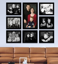 Elegant Arts and Frames Black Synthetic 38 x 1 x 32 Inch Group 8-A Wall Collage Photo Frame at pepperfry