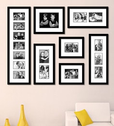 Elegant Arts and Frames Black Synthetic 52 x 1 x 40 Inch Group 7-B Wall Collage Photo Frame at pepperfry