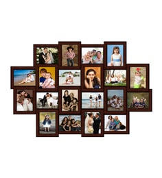 Elegant Arts & Frames - 20-in-1 Collage Photo Frame P 319-23 H 8 x 6 ( Synthetic Wood ) Elegant Arts & Frames at pepperfry