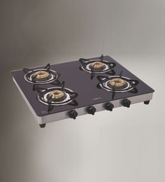 Elica Glasstop 4 Burner Auto Ignition Cooktop at pepperfry