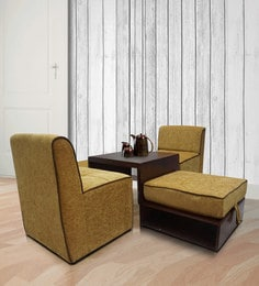 Elvira Center Table With Two Pouffes & Two Mini Sofa Chairs