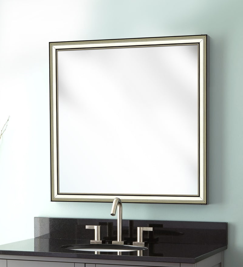 Elegant Arts & Frames Cream Synthetic Bathroom Mirror