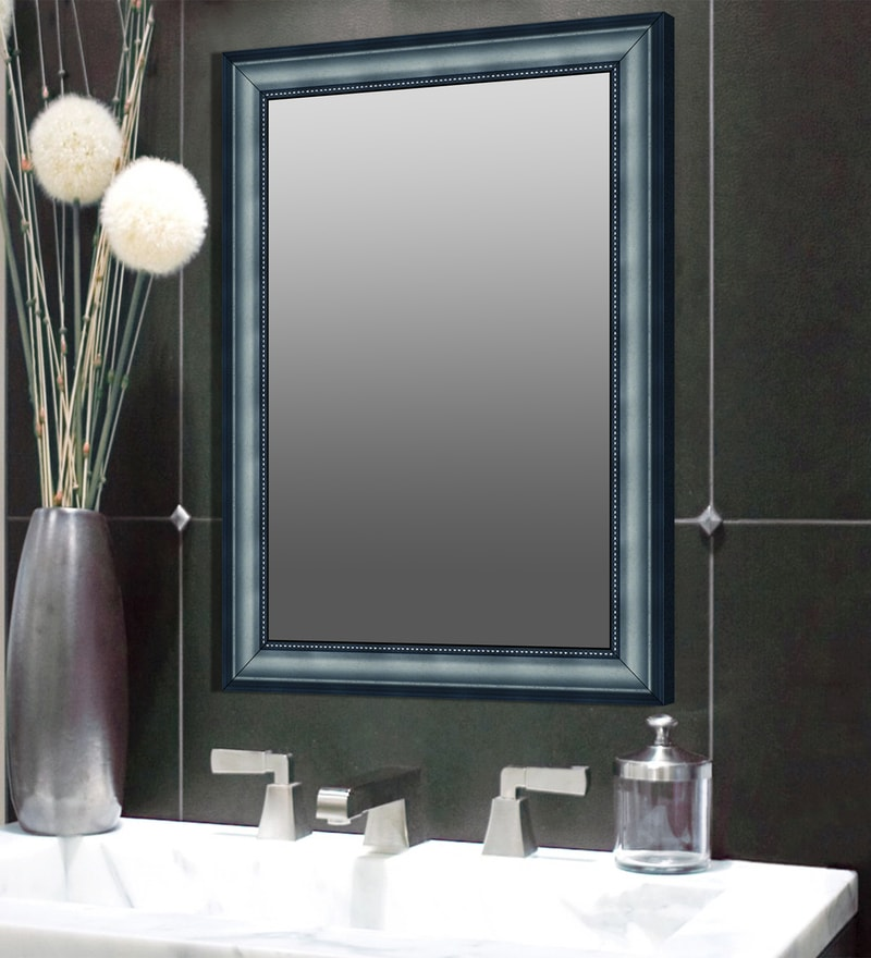 Elegant Arts & Frames Grey Synthetic Bathroom Mirror
