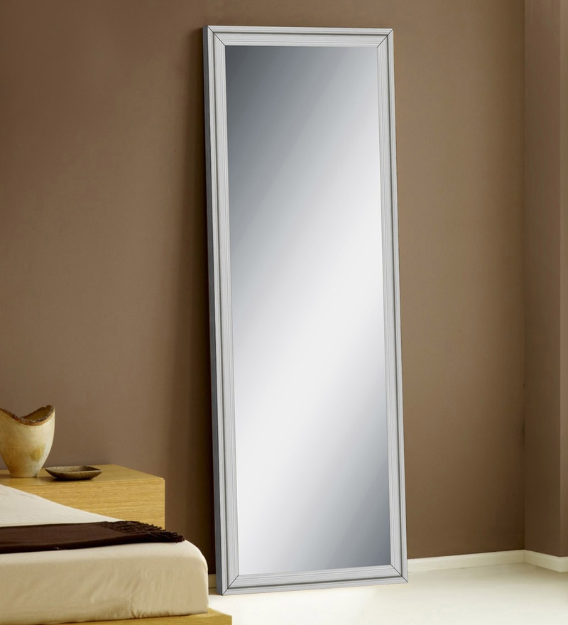 Buy White Wooden Decorative Full Length Dressing Mirror By