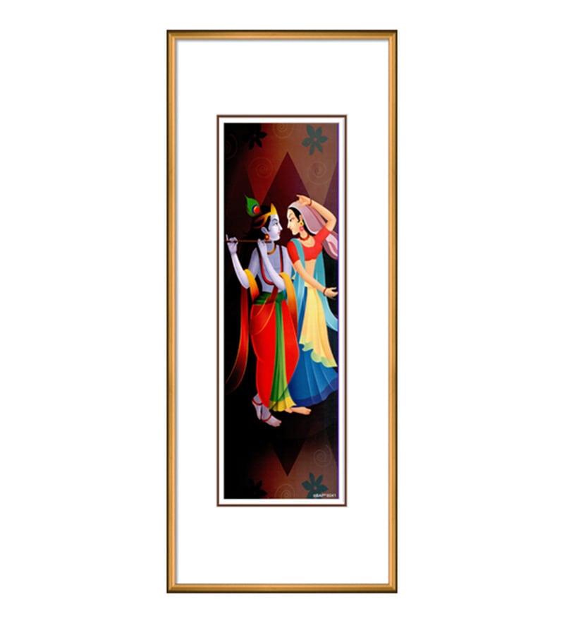 Paper & Metal 6 x 1 x 19 Inch Framed Digital Art Print by Elegant Arts and Frames