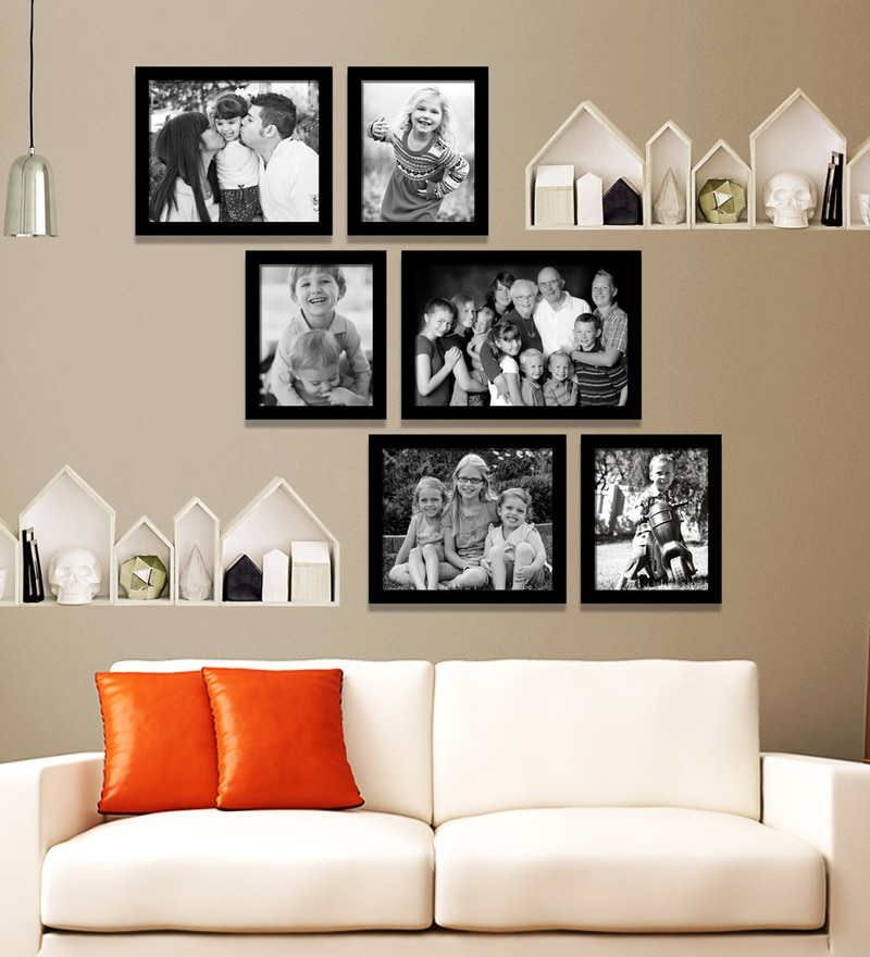 Black Synthetic 42 x 1 x 38 Inch Group 6-A Wall Collage Photo Frame by Elegant Arts and Frames