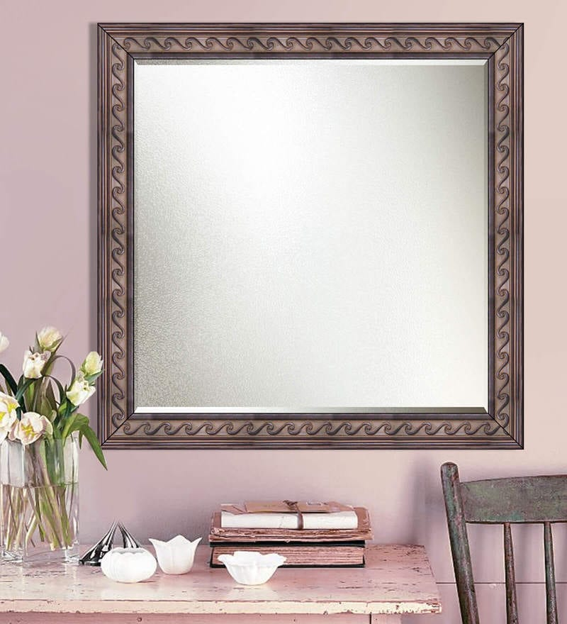 Brown Synthetic Decorative Wall Mirror by Elegant Arts and Frames